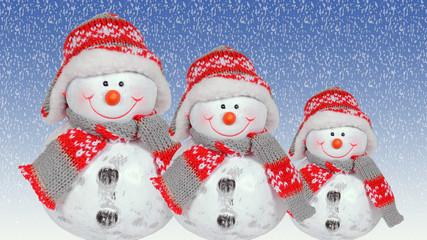 weihnachtsdeko mit schneemann