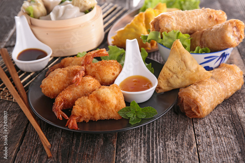 Papiers peints Assortiment asia food