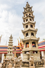 Wat Pho pagoda in Bangkok .