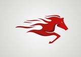 Fototapety Horse logo abstract vector
