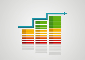 Finance business dynamics graph arrow vector logo design