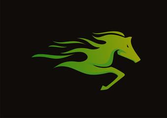Horse logo abstract vector