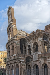 rome colosseum arches detail