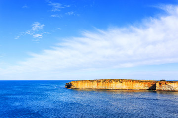seascape,landscape and skyline ofthe great ocean road,australia