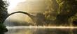 Leinwanddruck Bild - mystische Morgenstimmung