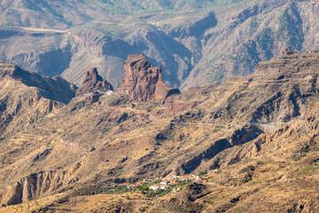 Rocky landscape in the interior of Gran canaria, Spain