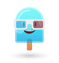 cute ice cream avatar wearing glasses
