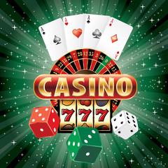 green casino dice card
