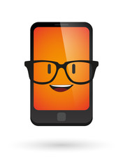 cute phone avatar wearing glasses