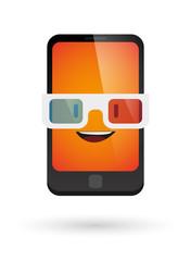 cute phone avatar wearing glasses