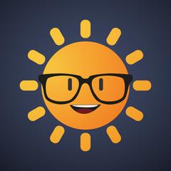 cute sun avatar wearing glasses
