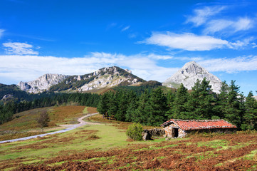 shed in urkiola mountains