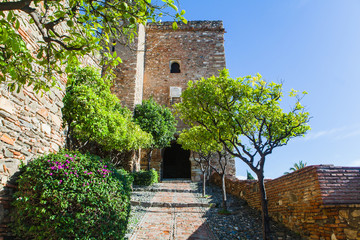 View of Alcazaba of Malaga in Andalusia, Spain.
