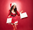 canvas print picture - Weihnachtsfrau