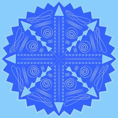 snowflake on blue background2