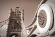 Obrazy na płótnie, fototapety, zdjęcia, fotoobrazy drukowane : London - Tower Bridge. Sepia tone.