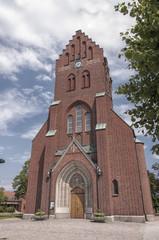Hassleholm Kyrka upward perpespective