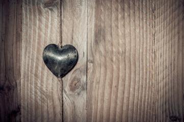 Coeur en métal brossé