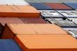 canvas print picture - Containerschiff Nahaufnahme
