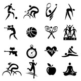 Sport fitness healthy lifestyle icons