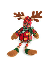 Christmas reindeer toy isolated on white background
