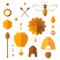Honey. Icon set