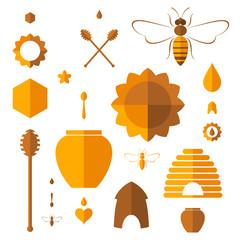 Honey. Icon set