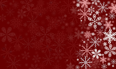 Vector transparent snowflake snowflakes background