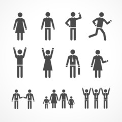 Vector Illustration human silhouettes
