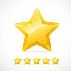 Vector gold star