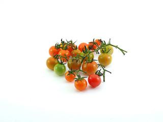 Thai local mini tomato on white background