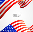 American flag border vector illustration - 73415874
