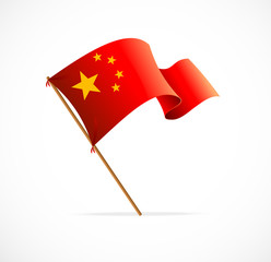 Flag of China, vector illustration