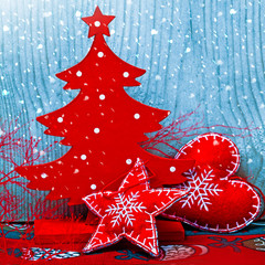 Christmas red decor