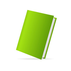 Vector book cover green perspective