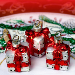 Christmas decorations, glass toys