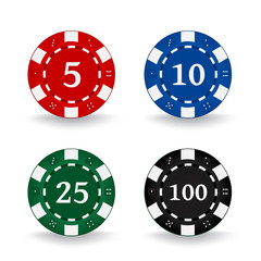 Poker Chips Denominations