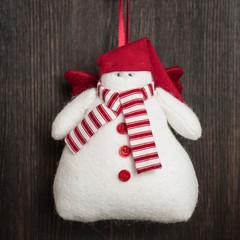 Snowman Christmas handmade toy
