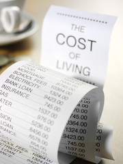 Cost of Living on a Printout