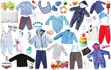 clothes and toys for newborn baby