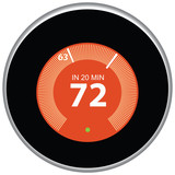 Nest Thermostat Red - 73418056