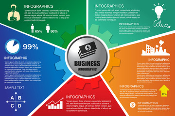 infographic Template with businessman