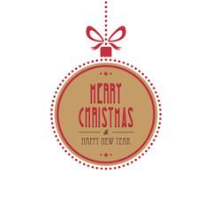 christmas ball merry christmas isolated background