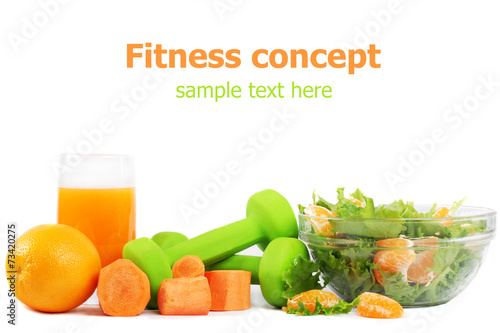 Fitness concept isolated on white background - 73420275