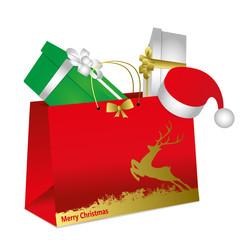 busta di natale con pacchi regalo