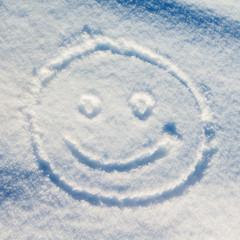 Smiley snow