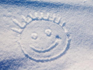 smiley in the snow