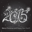 Happy new year greeting with number - Illustration