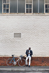Bicycle phone man