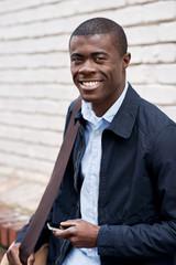 smiling african man